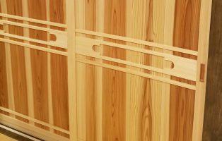 引違い板框戸