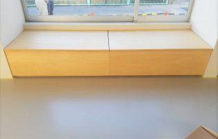 Rベンチ・手洗い・収納付ベンチの画像3