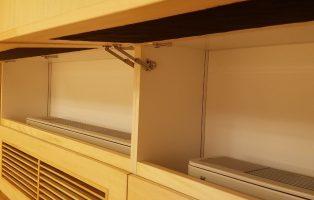 ガラリ付き収納棚の画像3